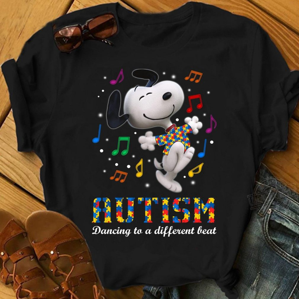 Snoopy autism dancing to a different beat Shirt