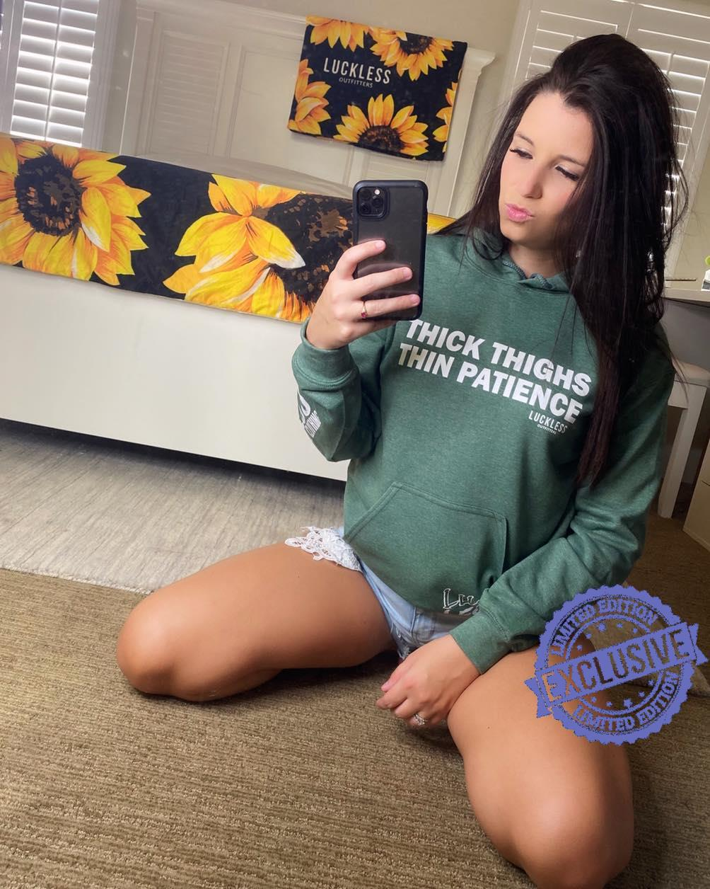 Thick thighs thin patience shirt